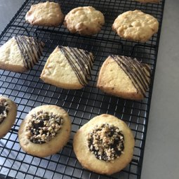 Macadamia Ginger Shortbread Biscuits
