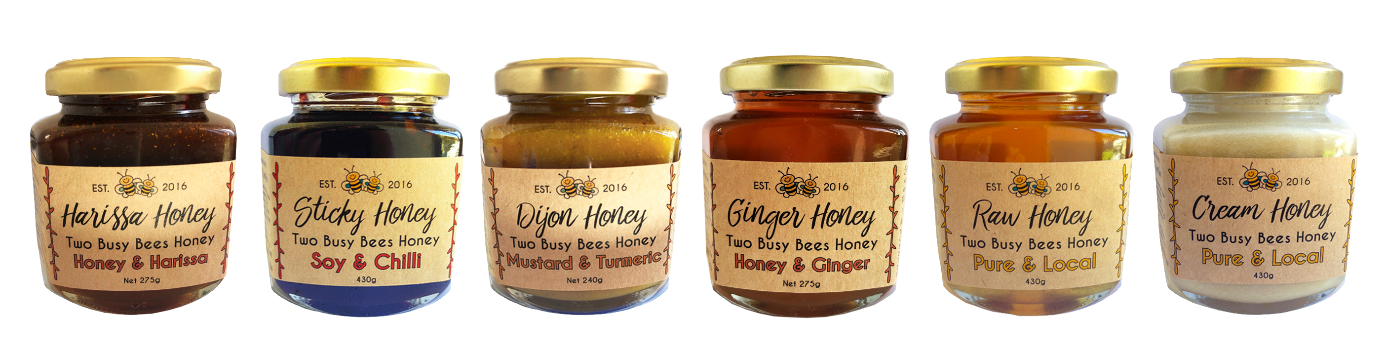 Two Busy Bees Honey banner image